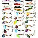 ราคาถูก วิกผมคอสตูม-30 pcs ที่ลวงตาในเบ็ด Hard Bait Spoons เหยื่อตกปลาเหล็ก จมได้รวดเร็ว Bass ปลาเทราท์ หอก ตกปลาทะเล เบทคาสติ้ง การตกปลาคารฺ์พ พลาสติกแบบแข็ง / การตกปลาทั่วไป / รอก & ตกปลาบนเรือ