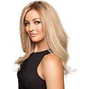 billiga Syntetiska peruker utan hätta-Syntetiska peruker Vågigt Vågigt Peruk Blond Lång Blond Syntetiskt hår Blond