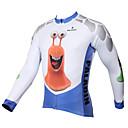 povoljno Biciklističke majice-ILPALADINO Muškarci Dugih rukava Biciklistička majica Blue / Bijela Životinja Crtani film Bicikl Biciklistička majica Majice biciklom na cesti Prozračnost Quick dry Ultraviolet Resistant Sportski Zima