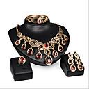 povoljno Ogrlice-Žene Ruby Komplet nakita Naušnice Jewelry Za Vjenčanje Party Special Occasion godišnjica Rođendan Angažman / Dar / Dnevno