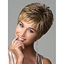 billiga makeup borste set-Syntetiska peruker Vågigt Europeisk Vågigt Pixie-frisyr Peruk Blond Korta Regnbåge Blond Syntetiskt hår Dam Europeisk väv Blond