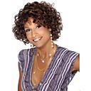 Χαμηλού Κόστους Συνθετικές περούκες χωρίς σκουφί-Συνθετικές Περούκες Σγουρά Σγουρά Περούκα Κοντό Καφέ Συνθετικά μαλλιά Γυναικεία Περούκα αφροαμερικανικό στυλ Καφέ