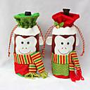 billiga Moderingar-2015 nya ankomst jul dekoration leveranser rött vin flaska täcka påsar heminredning parti Jultomten Jul