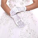 ราคาถูก ถุงมือปาร์ตี้-แปนเด็กซ์ / เส้นใยสังเคราะห์ ความยาวข้อมือ ถุงมือ Klasszikus / ถุงมือเจ้าสาว / ปาร์ตี้ / ถุงมือราตรี กับ ไม่มีลาย