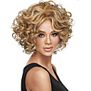 Χαμηλού Κόστους Είδη Καθαρισμού Κουζίνας-Συνθετικές Περούκες Σγουρά Σγουρά Περούκα Ξανθό Κοντό Καφέ Ξανθό Συνθετικά μαλλιά Γυναικεία Ξανθό Καφέ