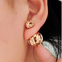 ราคาถูก ตุ้มหู-สำหรับผู้หญิง ต่างหูติดหู Double Sided ต่างหู เครื่องประดับ สีดำ / สีเงิน / ทอง สำหรับ งานแต่งงาน ปาร์ตี้ ทุกวัน ที่มา