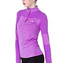 billige Kostymeparykk-Dame Yoga Top Elastan Zumba Løp Trening T-Trøye Topper Langermet Sportsklær Pustende Myk Elastisk Svettereduserende Elastisk