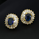 Χαμηλού Κόστους Χαραγμένο Δαχτυλίδια-High Crystal Σετ Κοσμημάτων Κρεμαστά Κολιέ Βίντατζ Πάρτι Γραφείο Καθημερινό Μοντέρνα Κομψό Επιχρυσωμένο Σκουλαρίκια Κοσμήματα Σκούρο μπλε Για Πάρτι Ειδική Περίσταση Επέτειος Γενέθλια Δώρο