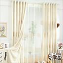 ราคาถูก ผ้าม่าน-เป็นมิตรกับสิ่งแวดล้อม ผ้าม่านปิดทึบ สองช่อง 2*(W183cm×L213cm) / การเย็บปักถักร้อย / Bedroom