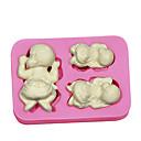 ราคาถูก เครื่องใช้และอุปกรณ์ในครัว-1pc พลาสติก DIY ขนมเค้ก แม่พิมพ์เค้ก เครื่องมือ Bakeware