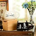 """Χαμηλού Κόστους Κούπες & Φλυτζάνες-300ml μαύρο και άσπρο χαριτωμένο γάτα ζώων κούπα δημιουργική κούπα νερού (5.1 """"x4.3"""" x3.7 """")"""