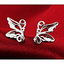 ราคาถูก ตุ้มหู-สำหรับผู้หญิง ต่างหูติดหู Butterfly Animal ถูก สุภาพสตรี แฟชั่น สไตล์น่ารัก เงินสเตอร์ลิง Silver ต่างหู เครื่องประดับ สีเงิน สำหรับ งานแต่งงาน ปาร์ตี้ ทุกวัน