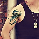 billiga Temporära tatueringar-1 pcs tillfälliga tatueringar Vattentät / Ogiftig / Glittrig Ansikte / Kropp / händer Glitter Kroppsmålningsstenciler / Mönster / Ländrygg
