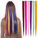 billiga Syntetisk hårförlängning-Rak Klassisk Syntetiskt hår HÅRFÖRLÄNGNING Klämma in Nyans Dagligen