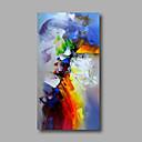 voordelige Abstracte schilderijen-Hang-geschilderd olieverfschilderij Handgeschilderde - Abstract Modern Inclusief Inner Frame / Rolled Canvas / Uitgerekt canvas