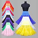 ราคาถูก เสื้อผ้าประวัติศาสตร์และวินเทจ-งานแต่งงาน โอกาสพิเศษ งานปาร์ตี้ / งานราตรี ทุกวัน ซับใน เส้นใยสังเคราะห์ ออแกนซ่า Tulle ไลคร่า ชายยาวระดับเข่า Ball Gown Slip
