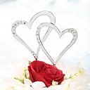 ราคาถูก ของตกแต่งหน้าเค้ก-อุปกรณ์แต่งหน้าเค้ก ที่ไม่ใช่ส่วนบุคคล หัวใจ มีสี การแต่งงาน / วันครบรอบปี พลอยเทียม สีเงิน ชายหาด / ธีมคลาสสิก / Fairytale Theme 2PVC