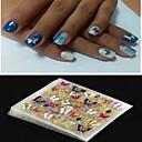 billiga ihåliga klistermärke-4 pcs 3D Nagelstickers Nagelsmycken nagel konst manikyr Pedikyr Punk / Mode Dagligen / pvc / Nail Smycken / 3D Nail Stickers