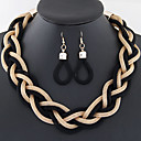 billiga Ringar-Dam damer örhängen Smycken Blå / Brun / Regnbåge Till Bröllop Party Dagligen Casual / Örhängen / Dekorativa Halsband