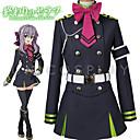 billiga Animekostymer-Inspirerad av Seraph of the End Hiiragi Tsukasa Animé Cosplay-kostymer Japanska cosplay Suits Topp / Kjol / Skärp Till Herr / Dam