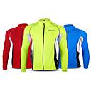 ieftine Jerseru Cycling-Nuckily Bărbați Manșon Lung Jerseu Cycling Verde Rosu Albastru Peteci Mărime Plus Size Bicicletă Jerseu Topuri Ciclism montan Ciclism stradal Rezistent la Vânt Respirabil Uscare rapidă Sport Terilenă