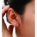 olcso Divat fülbevalók-Női Beszúrós fülbevalók hölgyek Ezüstözött Hamis gyémánt Fülbevaló Ékszerek Kompatibilitás Esküvő Parti Napi Hétköznapi