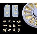 billiga Lösögonfransar-Metall 3D Nagelstickers Till finger tå Vackert nagel konst manikyr Pedikyr Klassisk Dagligen