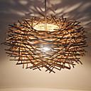 ราคาถูก โคมไฟระย้า-แปลกใหม่ ไฟจี้ Ambient Light อื่นๆ ไม้ / ไม้ไผ่ ไม้ / ไม้ไผ่ LED 220-240โวลต์ / E26 / E27