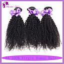 billiga Kostymperuk-3 paket Malaysiskt hår Lockigt Klassisk Kinky Curly Obehandlad hår Human Hår vävar Hårförlängning av äkta hår Människohår förlängningar / 10A / Sexigt Lockigt