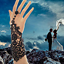 billiga Kroppssmycken-Dam Ringarmband damer Vintage Gotiskt Brudkläder Spets Armband Smycken Vit / Svart Till Julklappar Bröllop Party Dagligen Casual Cosplay Kostymer/Dräkter