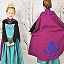 billiga Film- och TV-kostymer-Prinsessa Sagolikt Anna Cosplay Kostymer / Dräkter Film-cosplay Blå Klänning Halloween Nyår Cotton