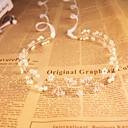 ราคาถูก หลอดโคมไฟLED-คริสตัล / ไข่มุกเทียม headbands กับ 1 งานแต่งงาน / โอกาสพิเศษ / กลางแจ้ง หูฟัง
