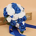"""ราคาถูก ดอกไม้งานแต่งงาน-ดอกไม้สำหรับงานแต่งงาน ช่อดอกไม้ งานแต่งงาน ผ้าไหม โฟม 12.6""""(ประมาณ 32ซม.)"""