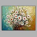 povoljno Slike za cvjetnim/biljnim motivima-Hang oslikana uljanim bojama Ručno oslikana - Mrtva priroda Rustikalni With Frame / Prošireni platno