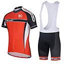ราคาถูก ชุดออกกำลังกายและชุดโยคะ-KEIYUEM สำหรับผู้หญิง แขนสั้น Cycling Jersey with Shorts สลับ จักรยาน ถุงน่องการขี่จักรยาน ชุดออกกำลังกาย กันน้ำ กันลม ระบายอากาศ แห้งเร็ว กีฬา ตารางไขว้ ผ้าขนแกะ สลับ เสื้อผ้าถัก / ยืด