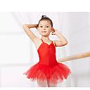 povoljno Dječja plesna oprema-Dječja plesna odjeća / Balet Leotards Trening Spandex Bez rukávů