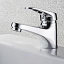 Χαμηλού Κόστους Smartwatch Bands-Μπάνιο βρύση νεροχύτη - Καταρράκτης Χρώμιο Montaj Punte Ενιαία Χειριστείτε μια τρύπαBath Taps
