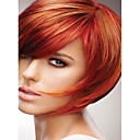 povoljno Capless-Sintetičke perike Ravan kroj Stil Capless Perika Crvena Sintentička kosa Crvena Perika Kratko