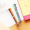 ราคาถูก เครื่องเขียน-ปากกา ปากกา ปากกาลูกลื่นต่างๆ ปากกา, พลาสติก สีแดง สีดำ สีน้ำเงิน สีเหลือง สีทอง สีเขียว หมึกสี For อุปกรณ์การเรียน เครื่องใช้สำนักงาน