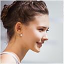 billiga Verktyg och tillbehör-Dam Pärla Dubb Örhängen damer örhängen Smycken Silver / Brun Till Bröllop Party Dagligen Casual Maskerad Förlovningsfest