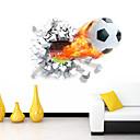 billiga Väggklistermärken-Romantik Tecknat Sport 3D Väggklistermärken Väggstickers i 3D Dekrativa Väggstickers, Vinyl Hem-dekoration vägg~~POS=TRUNC Vägg