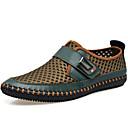 ราคาถูก รองเท้าแตะ & Loafersสำหรับผู้ชาย-สำหรับผู้ชาย รองเท้าสบาย ๆ หนังสัตว์ / ทูเล่ ฤดูใบไม้ผลิ / ฤดูร้อน / ตก รองเท้าส้นเตี้ยทำมาจากหนังและรองเท้าสวมแบบไม่มีเชือก สีเทา / สีน้ำตาล / สีเขียว / การกรีฑา / กลางแจ้ง / สำนักงานและอาชีพ / EU40