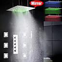 billiga Duschkranar-Duschkran - Nutida Krom Keramisk Ventil Bath Shower Mixer Taps / Mässing