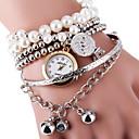 billiga Jewelry Set-Dam Armbandsklocka wrap watch Quartz Silver / Guld Heta Försäljning Ramtyp damer Pärlor Mode - Guld Silver Ett år Batteriliv / SSUO LR626