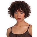 Χαμηλού Κόστους Χωρίς κάλυμμα-Συνθετικές Περούκες Σγουρά Σγουρά Περούκα Κοντό Καφέ Συνθετικά μαλλιά Γυναικεία Περούκα αφροαμερικανικό στυλ Καφέ