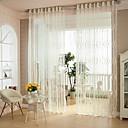 ราคาถูก ม่านปรับแสง-สองช่อง สมัยใหม่ สลับ ขาว Bedroom Polyester เฉดสีผ้าม่านเชียร์