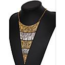 billiga Modeörhängen-Dam Uttalande Halsband Lager Halsband Multi lager damer Vintage Europeisk Multi lager Legering Skärmfärg Halsband Smycken Till
