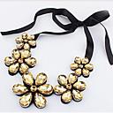 povoljno Modne naušnice-Žene Kristal Citrin Izjava Ogrlice Cvijet Majka kći Cvijet dame Koža Legura Zlato Duga Ogrlice Jewelry Za Party
