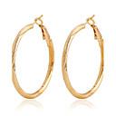 billiga Modeörhängen-Dam Ringformade Örhängen Guldpläterad örhängen Smycken Skärmfärg Till