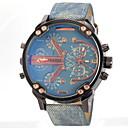 ราคาถูก แหวน-JUBAOLI สำหรับผู้ชาย นาฬิกาทหาร นาฬิกาข้อมือ นาฬิกาอิเล็กทรอนิกส์ (Quartz) หนัง ดำ / ฟ้า / เทา แสดงสองเวลา ระบบอนาล็อก เสน่ห์ - สีเทา สีเหลือง สีฟ้า หนึ่งปี อายุการใช้งานแบตเตอรี่ / SSUO LR626
